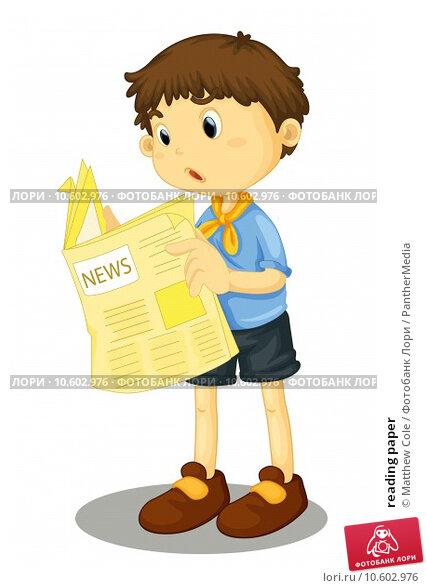 reading paper. Стоковая иллюстрация, иллюстратор Matthew Cole / PantherMedia / Фотобанк Лори
