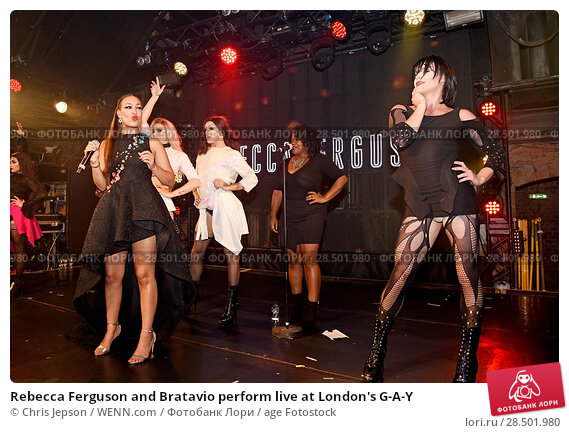 Изображение «Rebecca Ferguson and Bratavio perform live at London's G-A-Y  Featuring: Rebecca Ferguson Where: London, United Kingdom When: