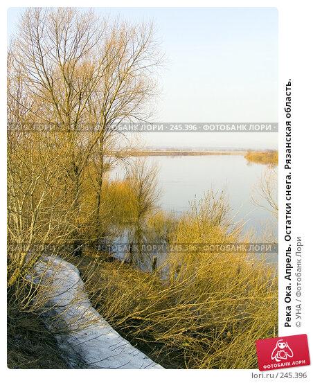 Река Ока. Апрель. Остатки снега. Рязанская область., фото № 245396, снято 5 апреля 2008 г. (c) УНА / Фотобанк Лори