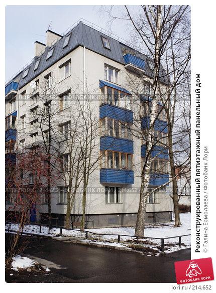 Реконструированный пятиэтажный панельный дом, фото № 214652, снято 4 марта 2008 г. (c) Галина Ермолаева / Фотобанк Лори