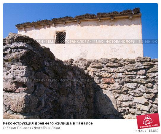 Реконструкция древнего жилища в Танаисе, фото № 115860, снято 22 февраля 2007 г. (c) Борис Панасюк / Фотобанк Лори