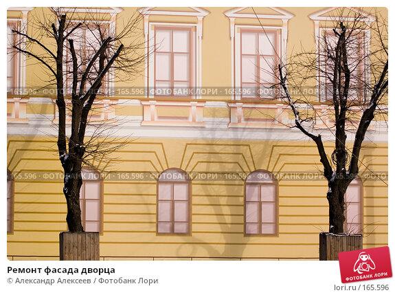 Ремонт фасада дворца, эксклюзивное фото № 165596, снято 6 марта 2007 г. (c) Александр Алексеев / Фотобанк Лори