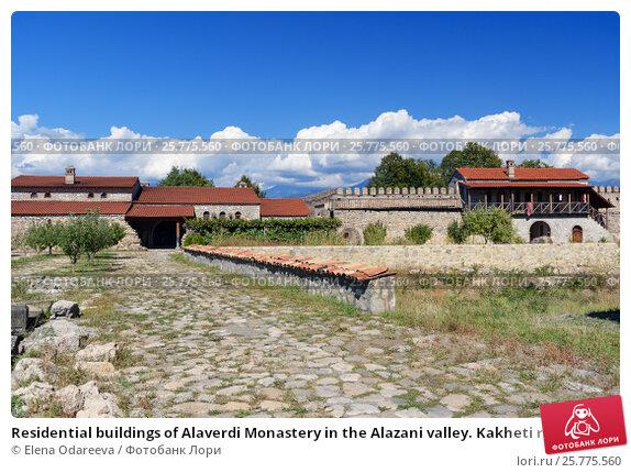 Купить «Residential buildings of Alaverdi Monastery in the Alazani valley. Kakheti region. Georgia», фото № 25775560, снято 18 сентября 2016 г. (c) Elena Odareeva / Фотобанк Лори
