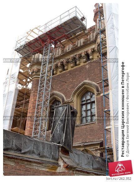 Реставрация Царских конюшен в Петергофе, фото № 262352, снято 16 апреля 2008 г. (c) Донцов Евгений Викторович / Фотобанк Лори