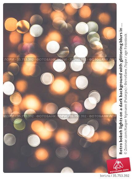 Retro bokeh lights on a dark background with glittering blurs in ... Стоковое фото, фотограф Zoonar.com/Kasper Nymann (Polarpx) / age Fotostock / Фотобанк Лори