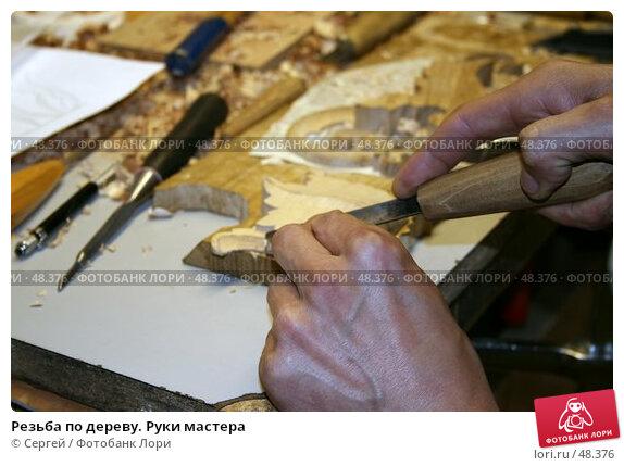 Резьба по дереву. Руки мастера, фото № 48376, снято 26 мая 2007 г. (c) Сергей / Фотобанк Лори