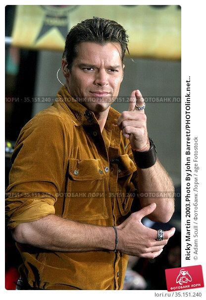 Ricky Martin 2003.Photo By John Barrett/PHOTOlink.net.. Редакционное фото, фотограф Adam Scull / age Fotostock / Фотобанк Лори