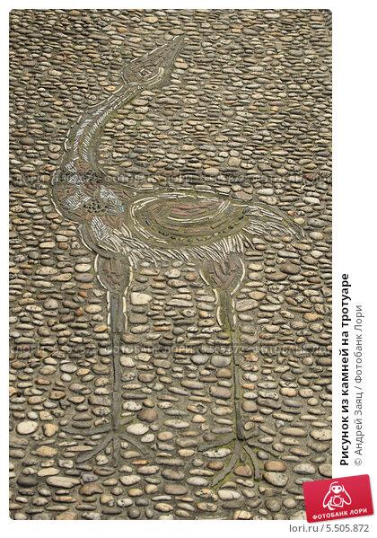 Рисунок из камней на тротуаре. Стоковое фото, фотограф Андрей Заяц / Фотобанк Лори
