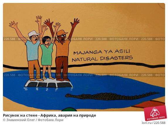 Рисунок на стене - Африка, авария на природе, эксклюзивное фото № 220588, снято 23 января 2008 г. (c) Знаменский Олег / Фотобанк Лори