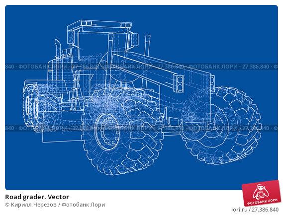 Купить «Road grader. Vector», иллюстрация № 27386840 (c) Кирилл Черезов / Фотобанк Лори