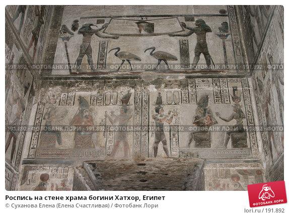 Роспись на стене храма богини Хатхор, Египет, фото № 191892, снято 25 января 2008 г. (c) Суханова Елена (Елена Счастливая) / Фотобанк Лори