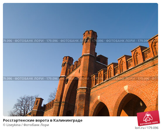 Россгартенские ворота в Калининграде, фото № 179096, снято 2 января 2008 г. (c) Liseykina / Фотобанк Лори