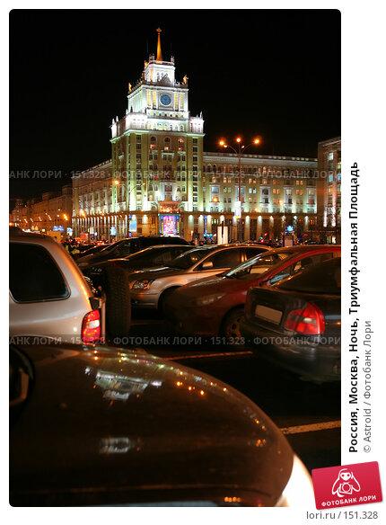 Россия, Москва, Ночь, Триумфальная Площадь, фото № 151328, снято 20 ноября 2007 г. (c) Astroid / Фотобанк Лори