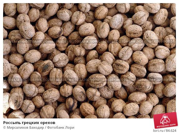 Россыпь грецких орехов, фото № 84624, снято 16 сентября 2007 г. (c) Мирсалихов Баходир / Фотобанк Лори