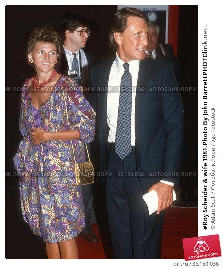 #Roy Scheider & wife 1981.Photo By John BarrettPHOTOlink.net.. Редакционное фото, фотограф Adam Scull / age Fotostock / Фотобанк Лори