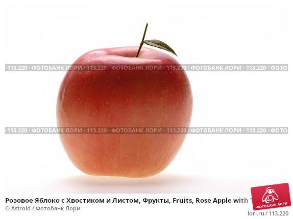 Розовое Яблоко с Хвостиком и Листом, Фрукты, Fruits, Rose Apple with Tail and Leaf, фото № 113220, снято 3 января 2007 г. (c) Astroid / Фотобанк Лори