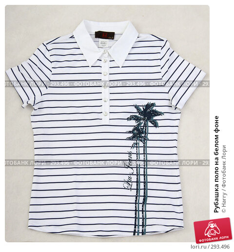 Рубашка поло на белом фоне, фото № 293496, снято 30 мая 2006 г. (c) Harry / Фотобанк Лори