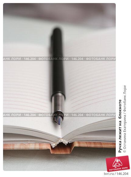 Ручка лежит на  блокноте, фото № 146204, снято 8 декабря 2007 г. (c) Останина Екатерина / Фотобанк Лори