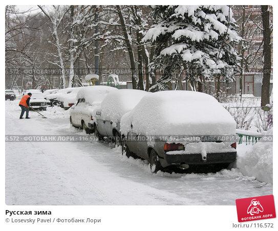 Купить «Русская зима», фото № 116572, снято 22 декабря 2005 г. (c) Losevsky Pavel / Фотобанк Лори