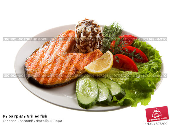 Рыба гриль Grilled fish, фото № 307992, снято 21 мая 2008 г. (c) Коваль Василий / Фотобанк Лори