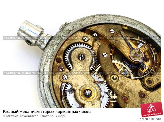 Ржавый механизм старых карманных часов, фото № 183984, снято 19 января 2008 г. (c) Михаил Коханчиков / Фотобанк Лори