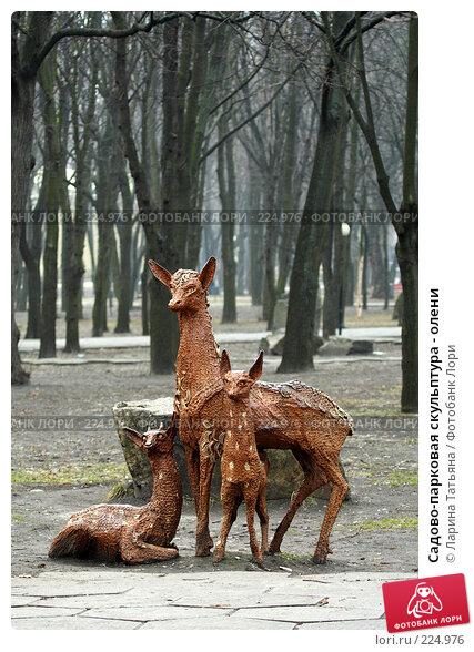 Садово-парковая скульптура - олени, фото № 224976, снято 9 марта 2008 г. (c) Ларина Татьяна / Фотобанк Лори