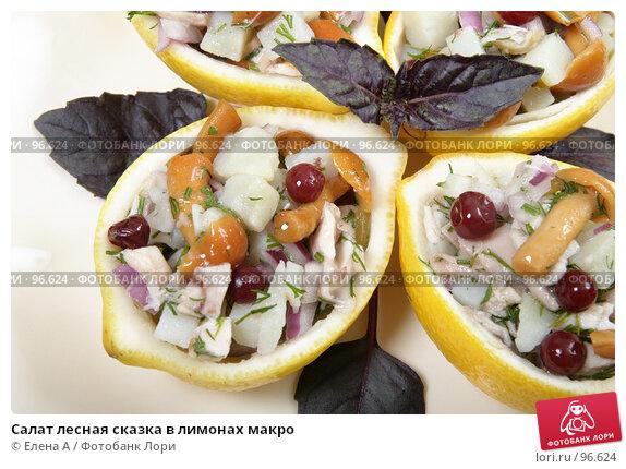 Салат лесная сказка в лимонах макро, фото № 96624, снято 18 июня 2007 г. (c) Елена А / Фотобанк Лори