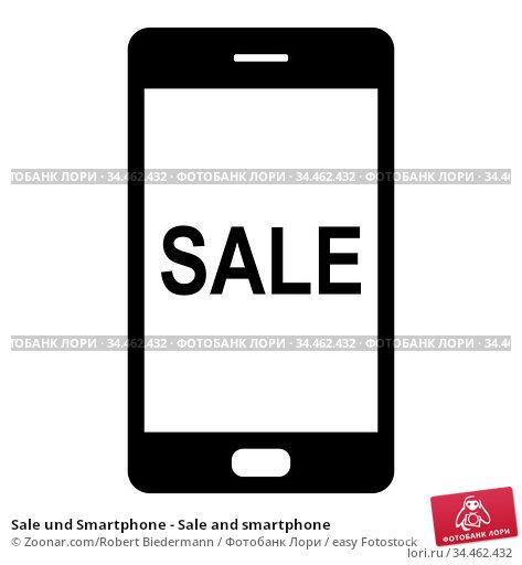 Sale und Smartphone - Sale and smartphone. Стоковое фото, фотограф Zoonar.com/Robert Biedermann / easy Fotostock / Фотобанк Лори