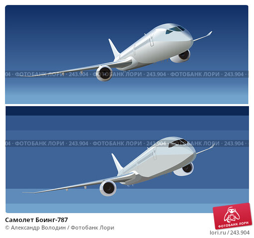 Самолет Боинг-787, иллюстрация № 243904 (c) Александр Володин / Фотобанк Лори