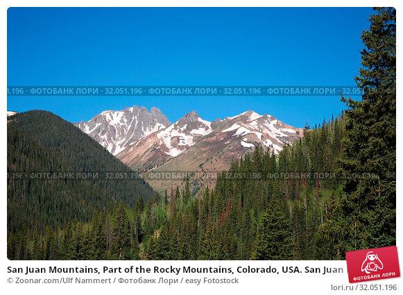 San Juan Mountains, Part of the Rocky Mountains, Colorado, USA. San Juan Mountains, Teil der Rocky Mountains, Colorado, USA. Стоковое фото, фотограф Zoonar.com/Ulf Nammert / easy Fotostock / Фотобанк Лори