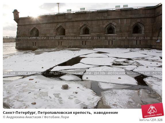 Санкт-Петербург, Петропавловская крепость,  наводнение, фото № 231328, снято 3 февраля 2008 г. (c) Андрюхина Анастасия / Фотобанк Лори