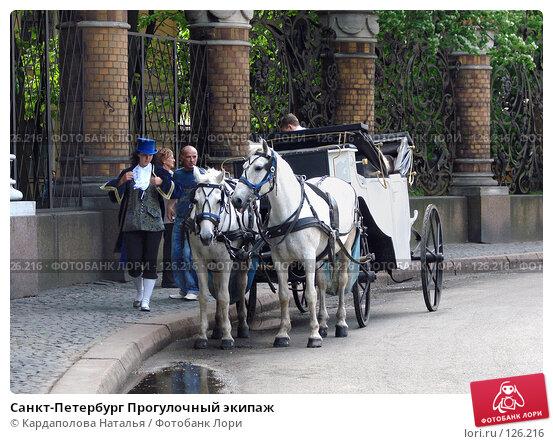 Санкт-Петербург Прогулочный экипаж, фото № 126216, снято 31 мая 2007 г. (c) Кардаполова Наталья / Фотобанк Лори