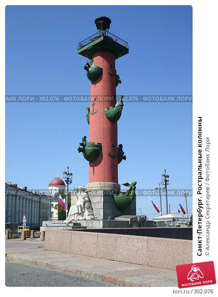 Санкт-Петербург. Ростральные колонны, фото № 302076, снято 28 мая 2008 г. (c) Александр Секретарев / Фотобанк Лори