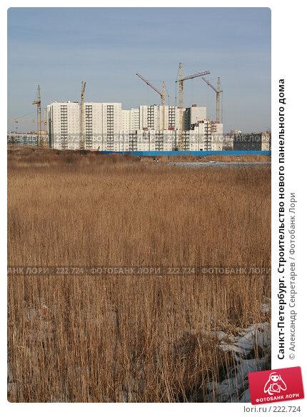 Санкт-Петербург. Строительство нового панельного дома, фото № 222724, снято 10 марта 2008 г. (c) Александр Секретарев / Фотобанк Лори