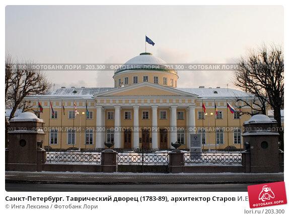 Санкт-Петербург. Таврический дворец (1783-89), архитектор Старов И.Е., фото № 203300, снято 9 марта 2006 г. (c) Инга Лексина / Фотобанк Лори