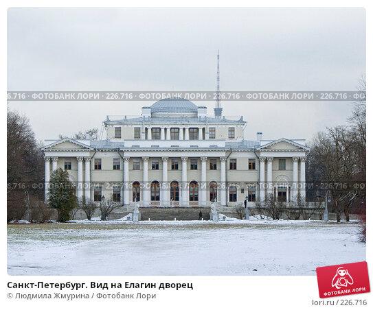Санкт-Петербург. Вид на Елагин дворец, фото № 226716, снято 16 февраля 2008 г. (c) Людмила Жмурина / Фотобанк Лори