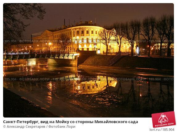 Санкт-Петербург, вид на Мойку со стороны Михайловского сада, фото № 185904, снято 16 января 2008 г. (c) Александр Секретарев / Фотобанк Лори