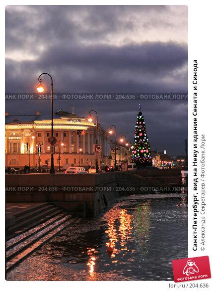 Санкт-Петербург, вид на Неву и здание Сената и Синода, фото № 204636, снято 22 декабря 2007 г. (c) Александр Секретарев / Фотобанк Лори