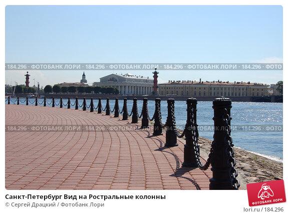 Санкт-Петербург Вид на Ростральные колонны, фото № 184296, снято 2 июля 2007 г. (c) Сергей Драцкий / Фотобанк Лори