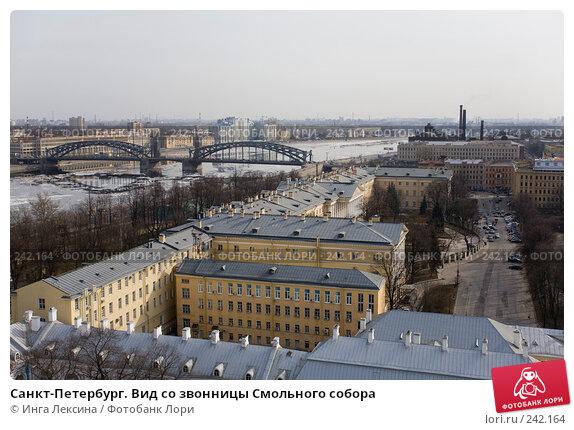Санкт-Петербург. Вид со звонницы Смольного собора, фото № 242164, снято 22 января 2017 г. (c) Инга Лексина / Фотобанк Лори
