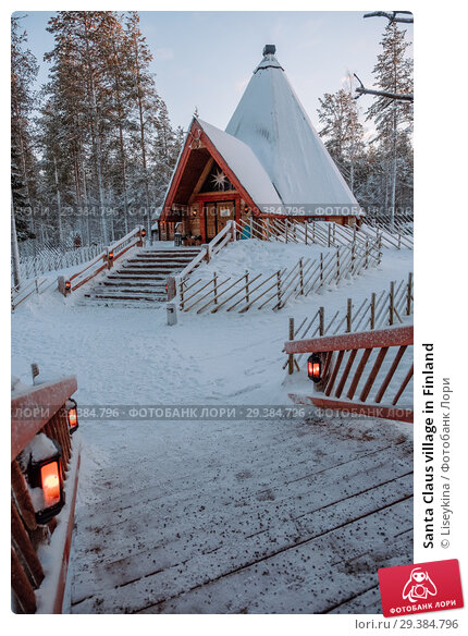 Купить «Santa Claus village in Finland», фото № 29384796, снято 9 января 2017 г. (c) Liseykina / Фотобанк Лори