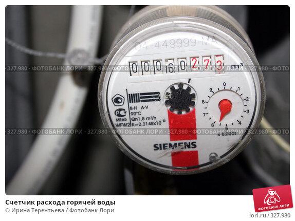 Счетчик расхода горячей воды, эксклюзивное фото № 327980, снято 18 июня 2008 г. (c) Ирина Терентьева / Фотобанк Лори