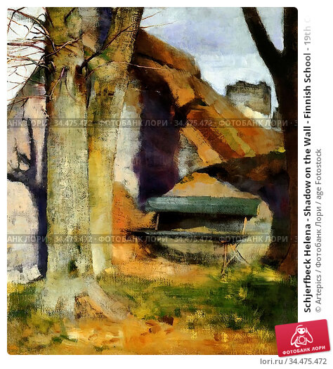 Schjerfbeck Helena - Shadow on the Wall - Finnish School - 19th Century... Редакционное фото, фотограф Artepics / age Fotostock / Фотобанк Лори