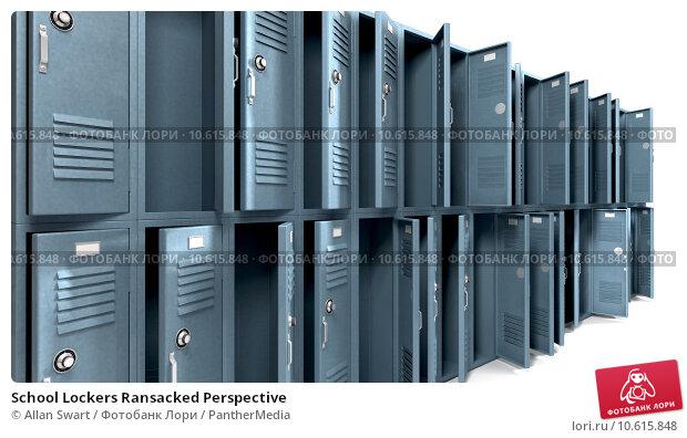 School Lockers Ransacked Perspective. Стоковое фото, фотограф Allan Swart / PantherMedia / Фотобанк Лори