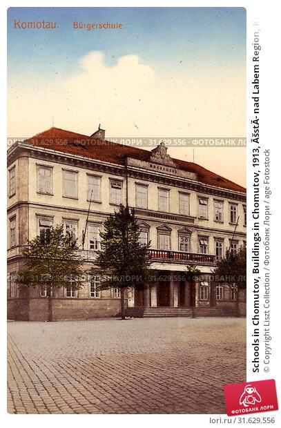 Schools in Chomutov, Buildings in Chomutov, 1913, Ústí nad Labem Region, Komotau, Bürgerschule, Czech Republic (2019 год). Редакционное фото, фотограф Copyright Liszt Collection / age Fotostock / Фотобанк Лори