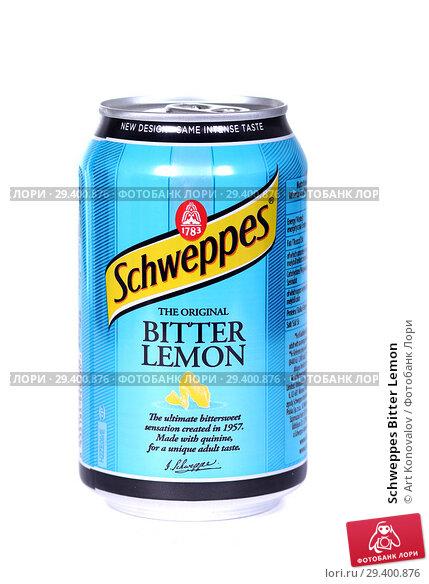 Купить «Schweppes Bitter Lemon», фото № 29400876, снято 7 ноября 2018 г. (c) Art Konovalov / Фотобанк Лори