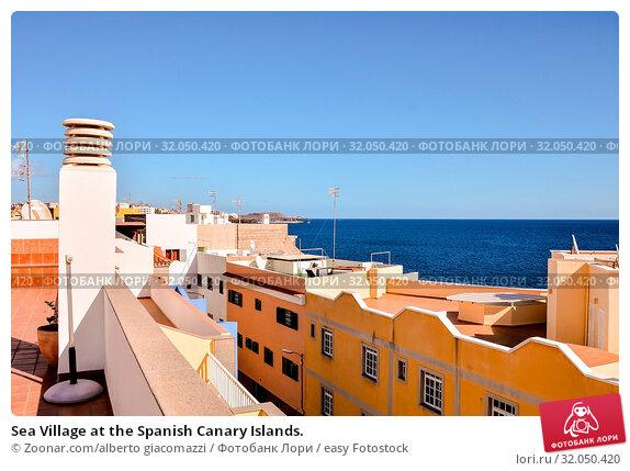 Sea Village at the Spanish Canary Islands. Стоковое фото, фотограф Zoonar.com/alberto giacomazzi / easy Fotostock / Фотобанк Лори