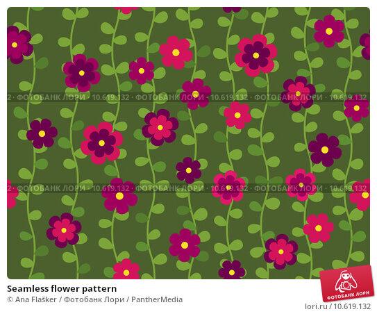 Seamless flower pattern. Стоковое фото, фотограф Ana Flašker / PantherMedia / Фотобанк Лори