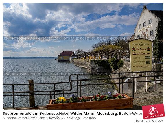 Seepromenade am Bodensee,Hotel Wilder Mann, Meersburg, Baden-Wuerttemberg... Стоковое фото, фотограф Zoonar.com/Günter Lenz / age Fotostock / Фотобанк Лори