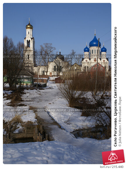 Село Рогачево. Церковь Святителя Николая Мирликийского, фото № 215440, снято 12 февраля 2008 г. (c) Julia Nelson / Фотобанк Лори